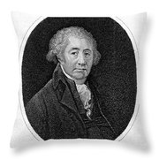 Matthew Boulton, English Manufacturer Throw Pillow
