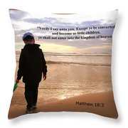 Matthew Eighteen Three Throw Pillow by Aaron Berg