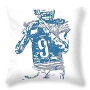 Matthew Stafford Detroit Lions Pixel Art 5 Throw Pillow