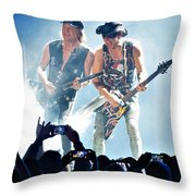 Matthias Jabs And Rudolf Schenker Shredding Throw Pillow