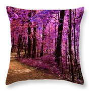 Matthiessen State Park Trail False Color Infrared No 2 Throw Pillow