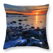 Maughold Beach Throw Pillow