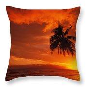 Maui, A Beautiful Sunset Throw Pillow