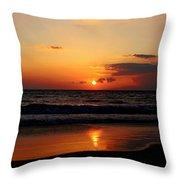 Maui Beach At Sunset Throw Pillow