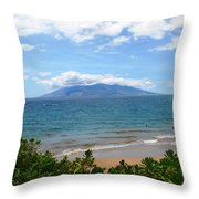 Maui Beach Throw Pillow