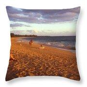Maui Beach In Evening Throw Pillow