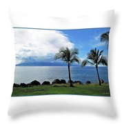 Maui Clouds Throw Pillow