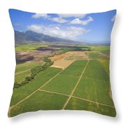 Maui Farmland Throw Pillow