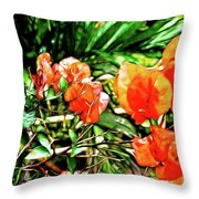 Maui Floral Throw Pillow