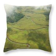 Maui Haleakala Crater Throw Pillow