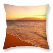 Maui, Hazy Orange Sunset Throw Pillow