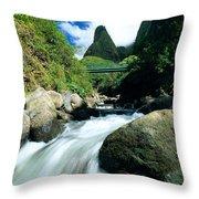Maui, Iao Needle Throw Pillow