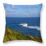Maui, Jaws Landscape Throw Pillow