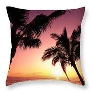 Maui, Kaanapali Beach Throw Pillow
