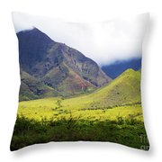 Maui Mountains Throw Pillow