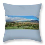 Maui Rainbow Throw Pillow