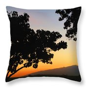 Maui Road Sunset Throw Pillow