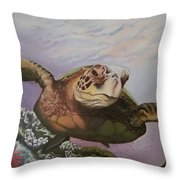 Maui Sea Turtle Throw Pillow