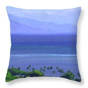 Maui View Throw Pillow