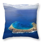 Maui, View Of Islands Throw Pillow