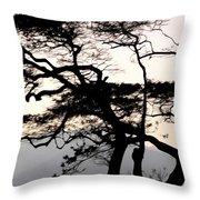 Maui Windy Tree Throw Pillow