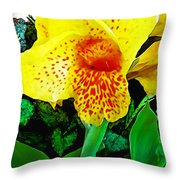 Maui Yellow Floral Throw Pillow