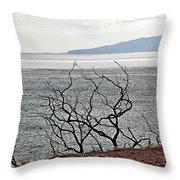 Maui's View Of Lanai Throw Pillow