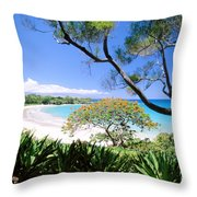 Mauna Kea Beach Throw Pillow