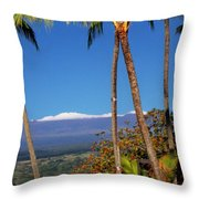 Mauna Kea  Throw Pillow