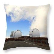 Mauna Kea Observatories Throw Pillow
