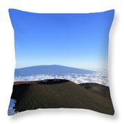 Mauna Loa In The Distance Throw Pillow