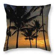 Mauna Loa Sunset - Big Island Hawaii Throw Pillow