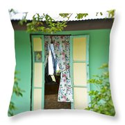 Maupiti Doorway Throw Pillow