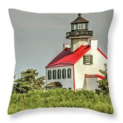 Maurice River, New Jersey, East Pointe  Lighthouse Throw Pillow