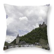 Maus Castle And The Village Of Wellmich Throw Pillow