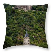 Maus Castle Over Village Throw Pillow