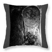 Mausoleum Flowers 2 Throw Pillow