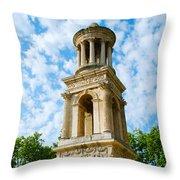 Mausoleum Of The Julii - Glanum Roman Ruins Throw Pillow