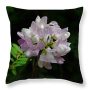 Mauve Flower Throw Pillow
