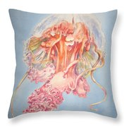 Mauve Stinger Throw Pillow