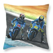 Maverick Y Aleix Full Brake Throw Pillow
