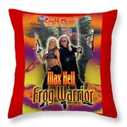 Max Hell Frog Warrior Throw Pillow by The Scott Shaw Poster Gallery