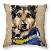 Max The Military Dog Throw Pillow