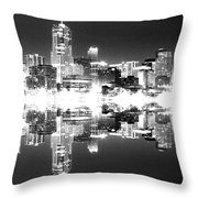 Maxed Cityscape Throw Pillow