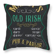 Maxey's Old Irish Pub Throw Pillow