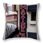 Maxine's Saloon Throw Pillow