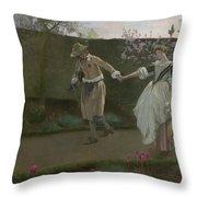 May Day Morning Throw Pillow