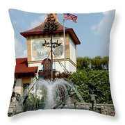 May Day Summer Celebration Throw Pillow