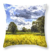 May Farm Art Throw Pillow