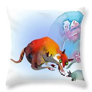 May I Touch You Throw Pillow